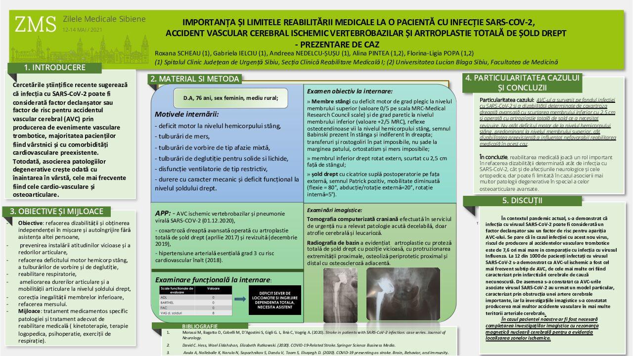 6. Roxana Scheau - IMPORTANȚA ȘI LIMITELE REABILITĂRII MEDICALE LA O PACIENTĂ CU INFECȚIE SARS-COV-2